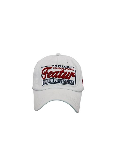 Laslusa Arizona Featur Beyzbol Cap Şapka Beyaz